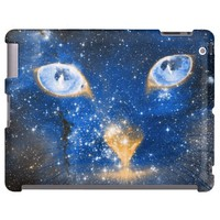 Beautiful Cosmic Kitty - Stars iPad 2,3,4 Case