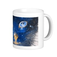 Beautiful Cosmic Kitty - Stars Coffee Mug