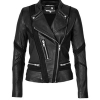 Iro - Leather/Mesh Biker Jacket