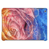 Pretty Colorful Painted Rose iPad Air Case