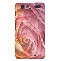 Pretty Colorful Painted Rose Droid RAZR Case