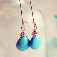Rare Rain Earrings - Turquoise