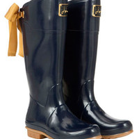 Navy Womens Evedon Rain Boots | Joules