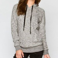Full Tilt Marled Womens Hoodie Grey  In Sizes