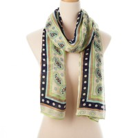 Blue Multi Catalina Wearable Art Gauze Scarf - New Arrivals - Shop | Theodora & Callum