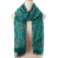 Teal Multi Nantucket Allover Fringe Scarf - New Arrivals - Shop | Theodora & Callum