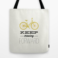 KEEP MOVING FORWARD - BICYCLE Tote Bag by Allyson Johnson