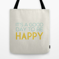 HAPPY Tote Bag by Allyson Johnson