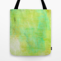 Green Paint Tote Bag by Allyson Johnson
