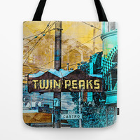 TwinPeaker's corner in Castro Tote Bag by Tommy Noshitsky