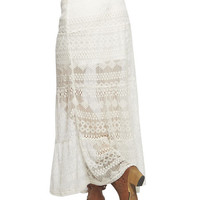 Allover Lace Tiered Maxi Skirt | Wet Seal