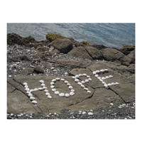 Hope - Seashell Art on the Beach
