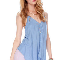 Frenzy Tank Top in Blue :: tobi