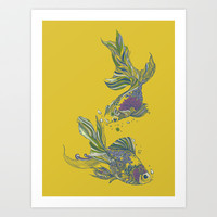 Blooming in Deep Art Print by Huebucket