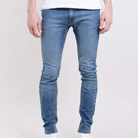LIGHT WASH SPRAY ON SKINNY JEANS - Men's Jeans - Clothing
