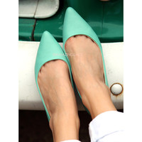 Westport Mint Pointed Toe Flats