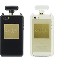 Chanel Perfume Bottle Clutch Chain iPhone Case