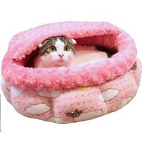 Doggy man half circle round roof bed empty every time pink (japan import)