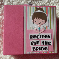 6x6 Wedding Recipe Book Scrapbook Album