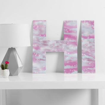 Lisa Argyropoulos Dream Big In Pink Decorative Letters