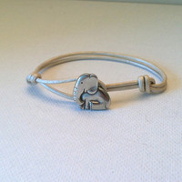 Baby Elephant Leather Bracelet Available by Jennasjewelrydesign