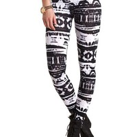 COTTON TIE-DYE PRINTED LEGGINGS