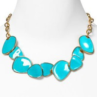 Kenneth Jay Lane Emamel Bib Chips Necklace, 16"