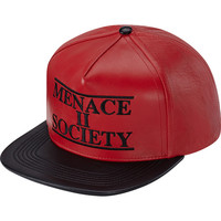 Supreme: Menace Leather 5-Panel - Red