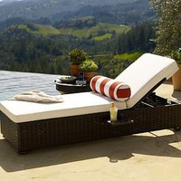 Corisca All-Weather Wicker Single Chaise | Pottery Barn