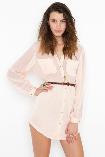 Blushing Shirtdress in  Collections Back In Stock at Nasty Gal