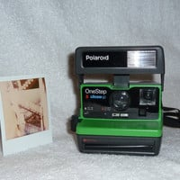 Polaroid 600 Upcycled With Green Highlights - Ready To Use And Show