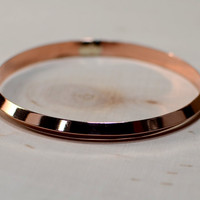 Copper triangular shaped bangle