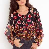 Pansy Silk Blouse in  Sale at Nasty Gal