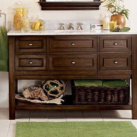 Classic Single Wide Sink Console - Espresso finish | Pottery Barn
