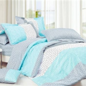 Dove Aqua Twin XL Comforter Set - College Ave Designer Series Cotton Comforters Bed Sets For Girls