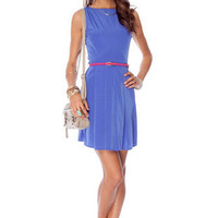 Riley Tank Dress in Blue :: tobi