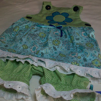 Baby Girl Clothes - Baby Girl Summer Outfit - Suntop and Pantaloons Set