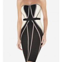 Multi Sexy Dress - L-M055 COLORBLOCKED DRESS | UsTrendy