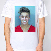 Justin Bieber Mugshot T-Shirt. Small to Extra - Large.