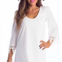 Falls dress in white | SHOWPO Fashion Online Shopping