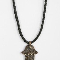 Hamsa Cord Necklace - Urban Outfitters