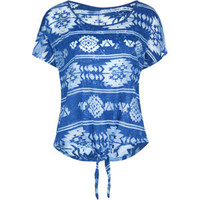 FULL TILT Ethnic Tie Front Womens Top 191860215 | SALE | Tillys.com
