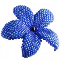 Plumeria Flower Brooch - indigo - beaded flower pin | HeartinHawaii - Accessories on ArtFire