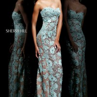 Floral Embellished Gown by Sherri Hill