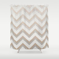 *** NUDE CHEVRON *** Shower Curtain by Monika Strigel