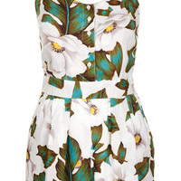 ALOHA FLORAL STRAPPY PLAYSUIT