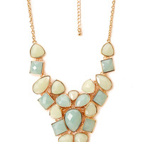 Opulent Faux Gemstone Necklace