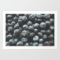 BLUEBERRIES Art Print by Allyson Johnson