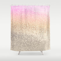 *** GATSBY PINK *** Shower Curtain by Monika Strigel - Photography of glitter pieces with amazing effects!