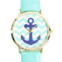 Anchor Chevron Watch | uoionline.com: Women's Clothing Boutique